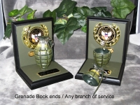 U.S.Army Grenade bookends