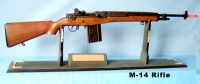 M-14 rifle on display board