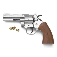 Magnum revolver nickle finish