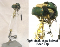 Carrier Flight deck crew helmet as Beer Tap ( Green)