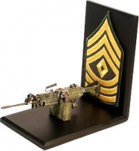 SAWS machine gun / sgt stripes