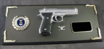 Award Full size Barretta Pistol plaque