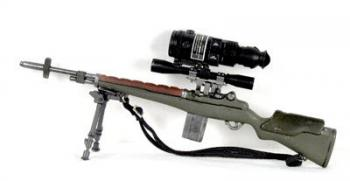 M-14 sniper rifle w/bipod and std scpe/ PVS-4 night scope