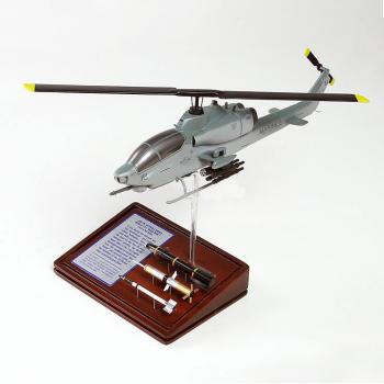 AH-1W Super Cobra helicopter with bombs USMC
