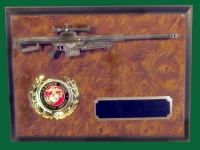 Barrett sniper rifle plaque