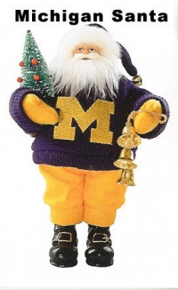 Michigan college Santa Doll