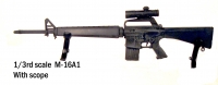 M-16A1 rifle with scope