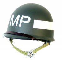 MP Helmet White band