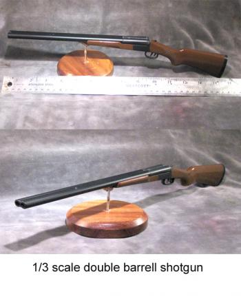 1/3 scale double barrell shotgun