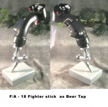 F/A-18 stick as Beer Tap