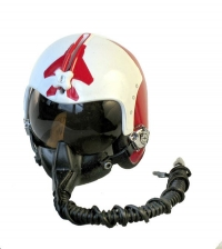 1/8th Red and White helmet