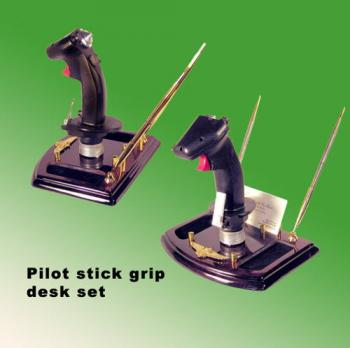 pilot stick grip desk set