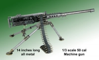 1/3 rd scale 50 cal machine gun