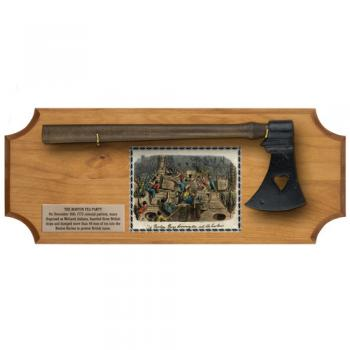 Boston Tea Party Tomahawk display