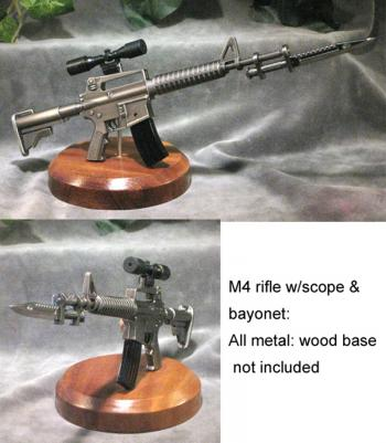 1/3 scale M4 with bayonet ---metal