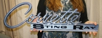 Corevette Sting Ray Rear Deck emblem sign