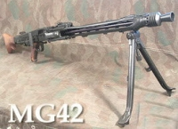 German MG-42 machine gun w/ bipod