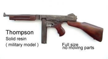 U.S. Thompson sub machnine gun -- military style