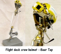 Carrier Flight deck crew helmet as Beer Tap ( Yellow)