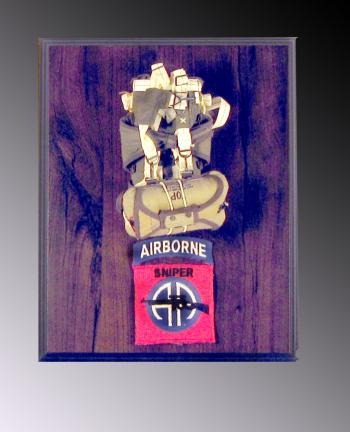 Military parachute on wall plaque