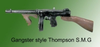 Gangster style Thompson SMG