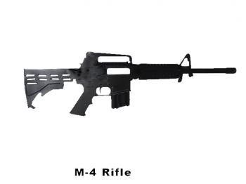 M-4 rifle cut out metal