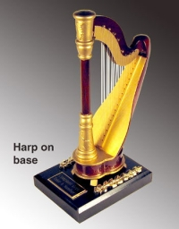 miniature Harp as a paper weight