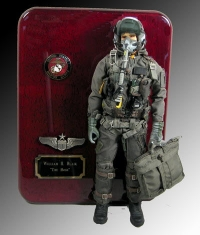 U.S.M.C. Pilot in uniform and helmet 1/6 scale