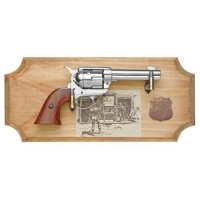 Wyatt Earp six shooter ( framed ) Metal