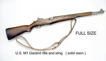 U.S. M1 Garand rifle solid resin --with sling