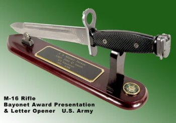 Military full size bayonet as letter opener