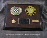 Inexpensive military plaque of choice