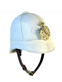British Army 1879 helmet white with emblem