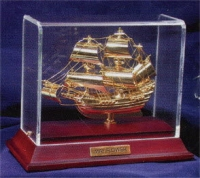 The Mayflower encased