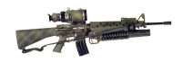 U.S. M-16 w/M203 and night scope