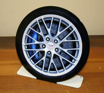 ZR 1 tire & rim free standing sign