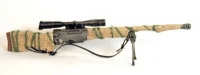 British L-96 Sniper Rifle with cloth camo cover