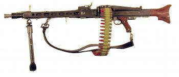 German MG-42 w/ammo belt