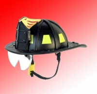 Firemans helmet ( black & yellow)