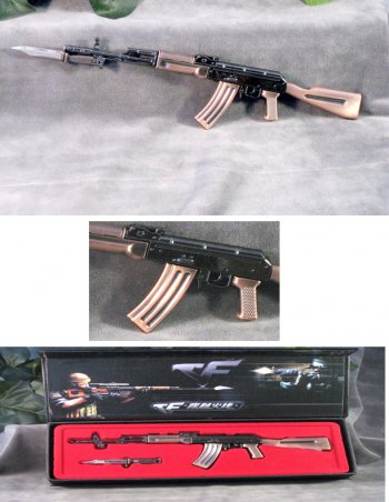 AK-47 with bayonet 1/3 rd scale