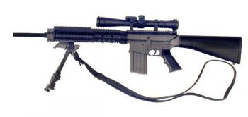 U.S. AR-10 Stoner w/scope and tri pod (sniper version)