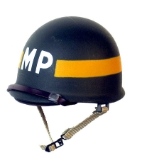 US 1/6th MP Helmet Yellow band