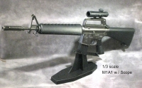1/3 scale M16A1 with scope