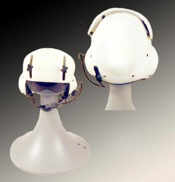 Plain white helicopter helmet