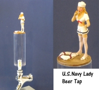 U.S.Navy lady as beer tap