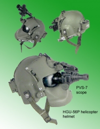 1/6 scale MHG-56P helmet with PVS-7 scope