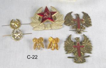 Russian pins assortment