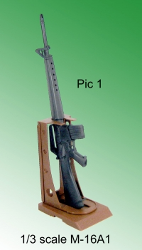 M-16A1 rifle with stand