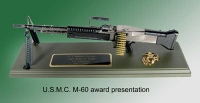 M-60 machine gun Award presentation