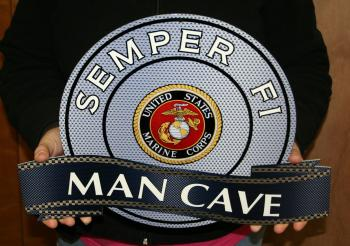 USMC Semper Fi Man Cave sign